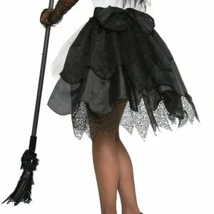 Witch Halloween Skirt Black One Size Fits Most